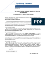 Certificado de Operatividad Extinción 2017