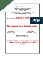 Enseignement superieur d'architecture en Algérie.pdf