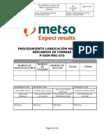P-DGM-MEC-073 Proc  Lubricación Manual de descanso de correas