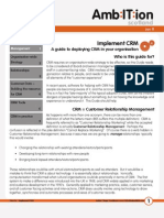 How to... Implement CRM