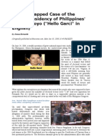 The Wiretapped Case of the Bogus Presidency of Philippines