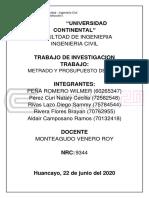 INFORME DE METRADOS 2