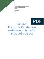 Tarea 9. Preparación de una sesión de animación musical y visual (2)
