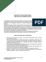 protocollo riabilitazione Protesi ginocchio