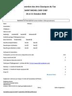 Bulletin Inscription 27 ème Convention ACT St Michel Chef Chef