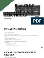MATERIALES DE LAS INTALACIONES ELÉCTRICAS