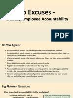 No Excuses - Creating Employee Accountability