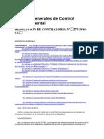 NGCG RESOLUCION DE CONTRALORIA Nº 273-2014-CG