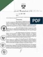 RC_138-2018-CG Lineamientos auditoria sobre hechos especificos