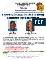 Hit-and-run flyer from Miami-Dade police