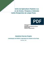 Crescimento da agricultura paulista e as instituições de ensino, pesquisa e extenção numa perspectiva de longo prazo