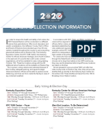 General Election 2020 Information Sheet