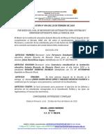 RESOLUCIÓN N° 000  RECONOCIMIENTO DEL PERSONERO Y CONTRALOR ESTUDIANTIL AÑO LECTIVO 202O