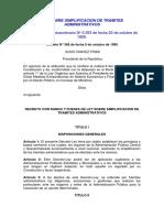 Ley sobre simplificación de tramites administrativos