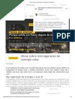 Dicas sobre microgeração de energia solar _ Voltimum