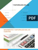 MOVIMIENTO Y NATURALEZA DE LAS CUENTAS