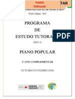 PET 7º ANO   - Piano Popular - VOL.IV
