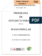 PET 8º ANO   - Piano Popular - VOL.IV