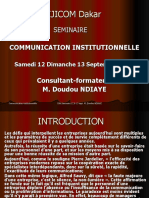 Communication institutionnelle Cours EJICOM