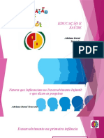 Fatores Que Influenciam No Desenvolvimento Infantil