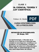 CLASE  2 Ciencia, teoría y ley científica.