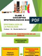 CLASE  1 Conceptos epistemológicos básicos.