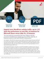 Support more WordPress website traffic—up to 1.51 times the performance on new Dds_v4 instances for Microsoft Azure versus older Ds_v3 instances