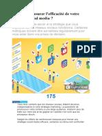 Comment mesurer l efficacité de votre stratégie social media