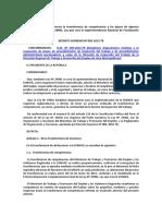 DS N° 003-2013-TR, Presisa la transferencia de competencias y plazos de vigencia en el Ley N° 29981 (spij 09.07.18)