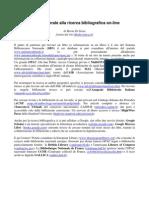 Guida generale alla ricerca bibliografica on-line