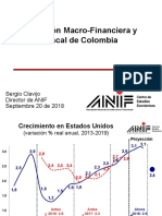 Situación Macro Financiera y Fiscal de Colombia