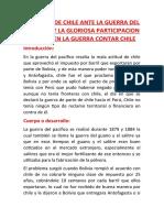LA VIVEZA DE CHILE ANTE LA GUERRA DEL PACIFICO