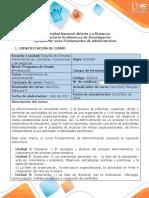 Syllabus del curso Fundamentos de Administración