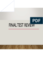 WOS III - Final Test Review
