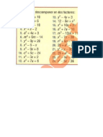 Trinomio de la forma x2 + bx + c