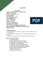 Plan de lectie clasa a 5-a bucuresti.doc