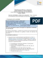 Guia de actividades y Rúbrica de evaluación - Unidad 1 - Fase 2 - Analizar los fundamentos de las tecnologías de transmisión no guiadas