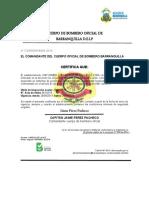 CERTIFICADO DE CUERPO DE BOMBERO