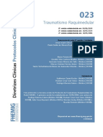 023 - Traumatismo  Raquimedular - Versão junho 2020