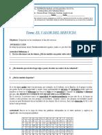 GUÍA El Valor Del Servicio 4-2 PERÍODO 2020