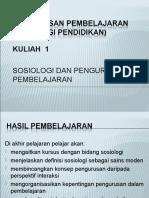 20110111110110Lecture 1 - Sosiologi & Pengurusan Pembelajaran