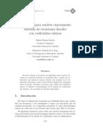 Algoritmo para sistemas de ecuaciones