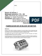 FABRICACION BLOCK DEL MOTOR
