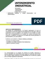 Mantenimiento Industrial - 24 Agosto 2020