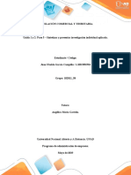 APORTE - Paso 5 – Sintetizar y presentar investigación individual aplicada