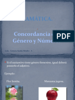 Gramática. Concordancia de género y Número. 01-03-11