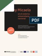 Cuaderniilo de capacitación Ley Micaela para el sistema universitario