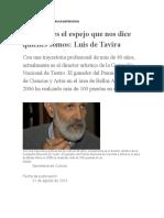 APUNTES DE LUIS DE TAVIRA EN ENTREVISTAS