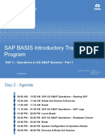 SAP BASIS Introductory Training Program - Day 2