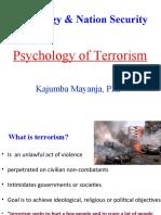 The Psychology of Terrorism - Dr Kajumba Mayanja (2)